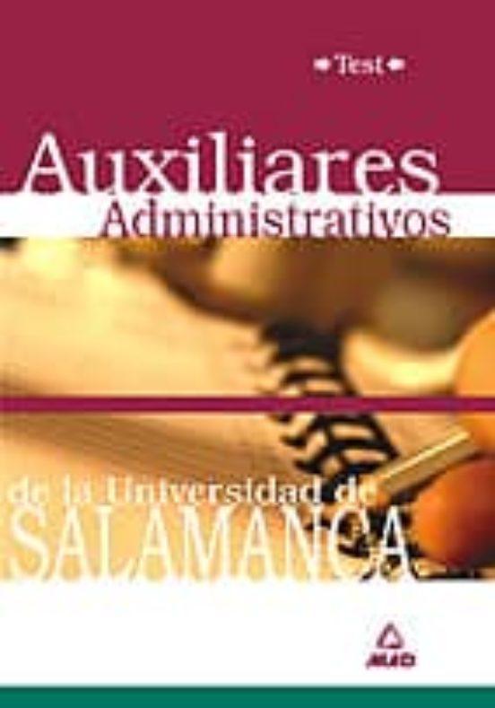 AUXILIARES ADMINISTRATIVOS DE LA UNIVERSIDAD DE SALAMANCA: TEST