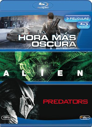 la hora mas oscura + alien + predators (blu-ray)-8420266951663