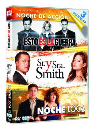 esto es la guerra + sr y sra smith + noche loca (dvd)-8420266964557