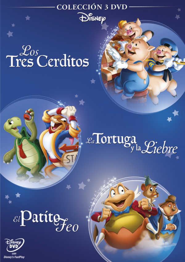 pack fabulas 3 cerditos - el patito feo - la liebre y la tortuga - dvd --8717418517922